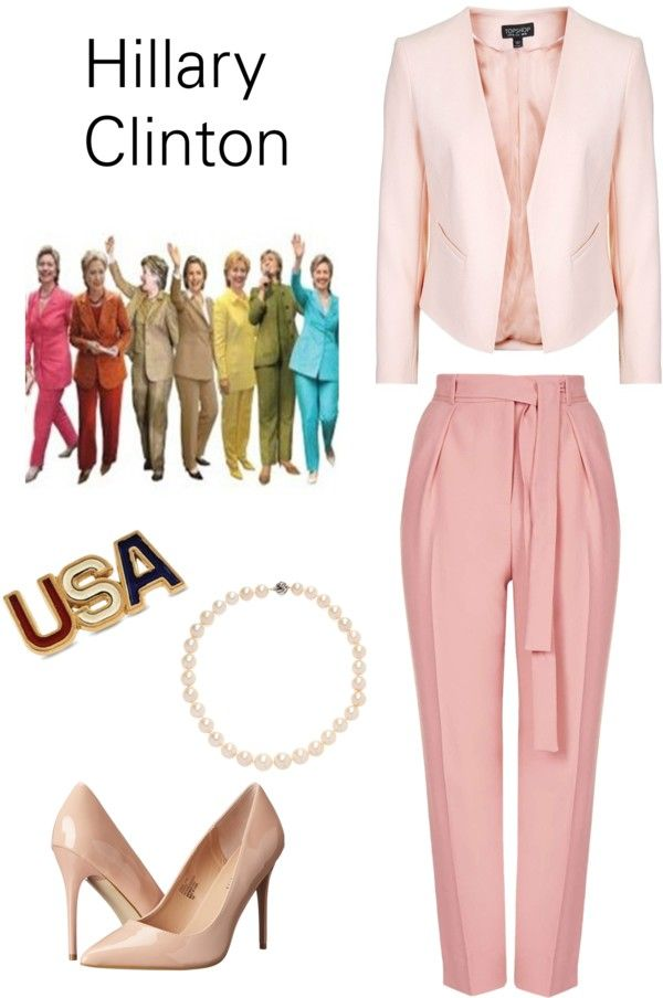 Easy DIY Hillary Clinton halloween costume from clothes you already have