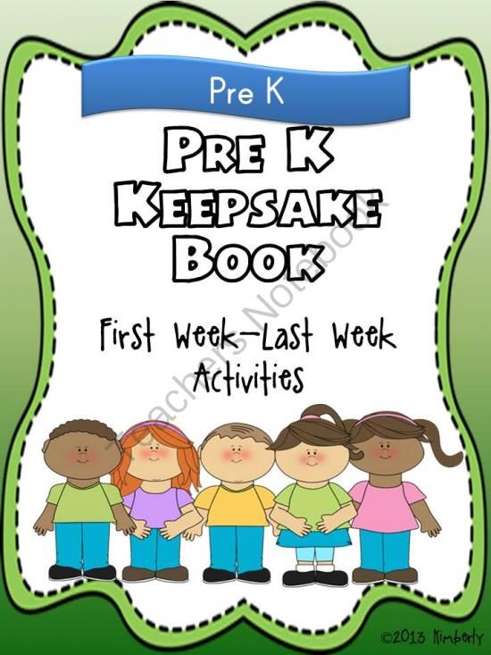 Pre-K Keepsake Book (First Week-Last Week Activities) from By Kimberly on TeachersNotebook.com (15 pages)   This keepsake book/project is a wonderful way to start the school year, as well as finish out the year. The book has pages to be filled out during the first week of school and then again during the la