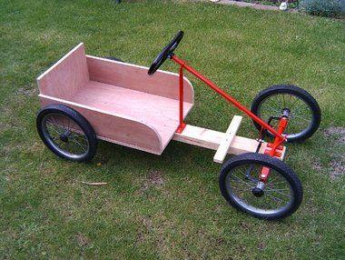 Drill Powered Go Kart CYCLE KART Bastelideen Fahrzeuge