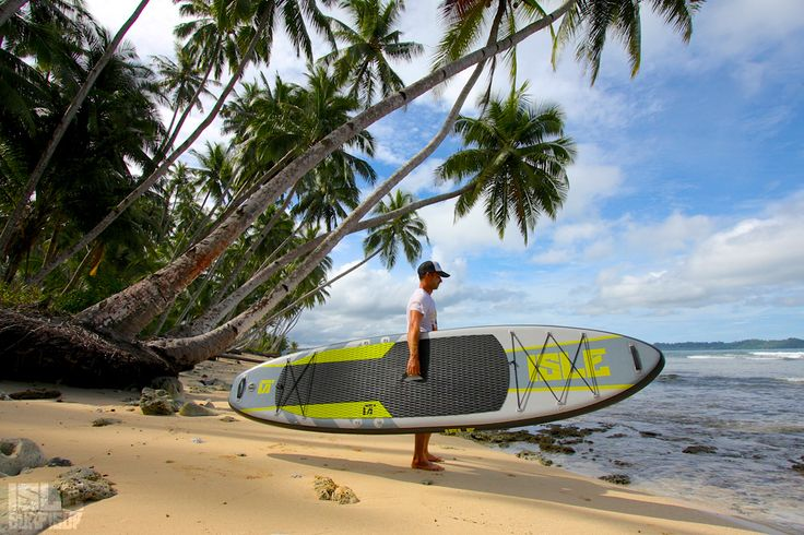Paddle boarding with the 11 ft. Explorer inflatable SUP in Telo Islands which is on the border of North Sumatra between Nias and Mentawai Islands.