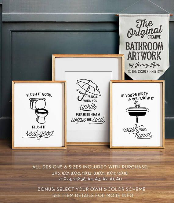 Please No Sprinkles Funny Toilet Bathroom Home Quote Gallery Wall Art Print