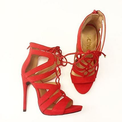 Coming soon! schuh Under Wraps red high heels, they'll be your new season favourite. @schuhpr