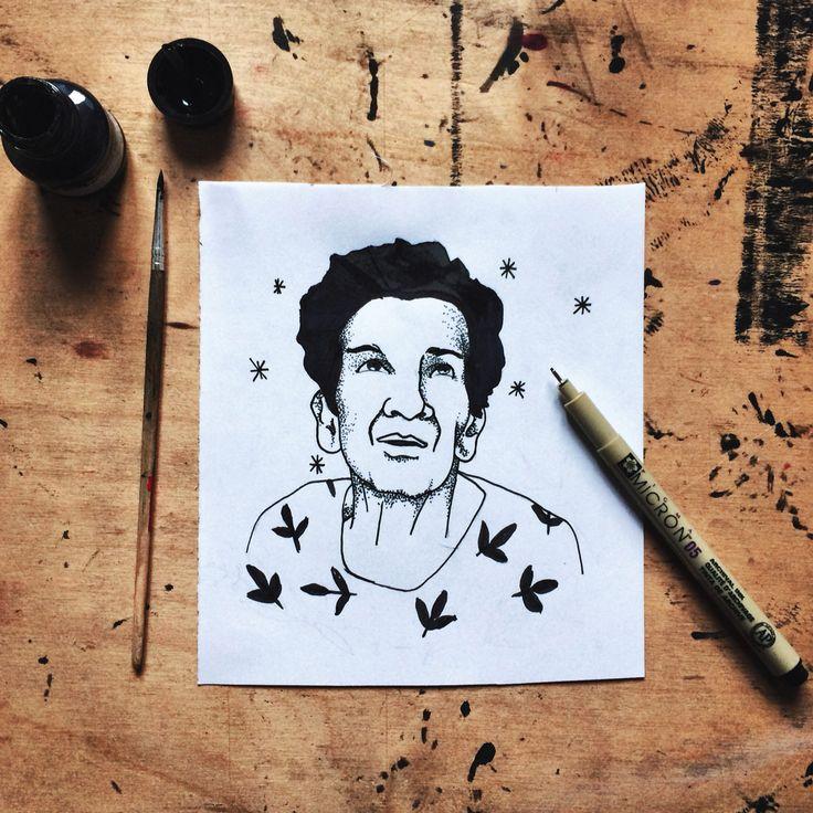 Blackwork grandma' tattoo   #bianicon #tattoo #black