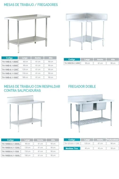 muebles cocina industrial mobiliario de cocina en acero inoxidable ...