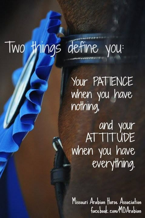 Two things define you . .