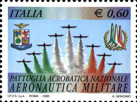 """2005 - """"Frecce Tricolori"""" della Pattuglia Acrobatica Nazionale dell'Aeronautica Militare Italiana - Volo acrobatico"""