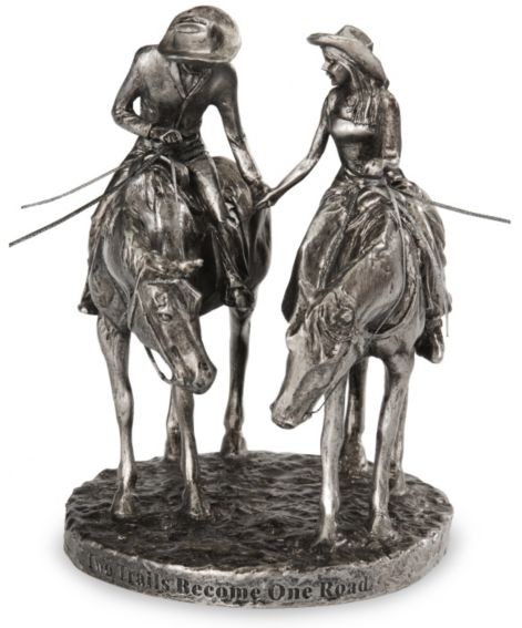 Montana Silversmiths western wedding Two Trails cake topper