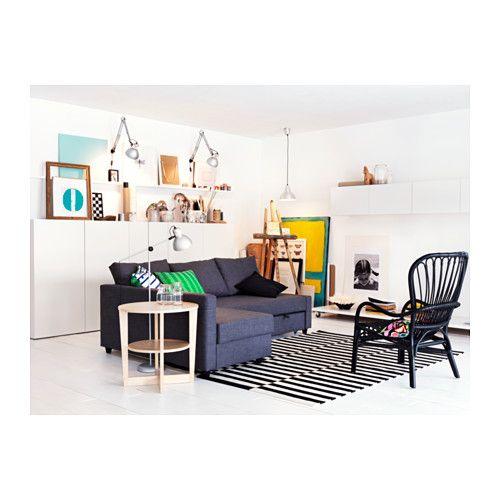 FRIHETEN Sofa narożna rozkładana - Skiftebo ciemnoszary, - - IKEA