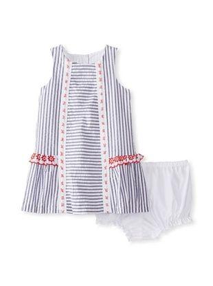 56% OFF Pippa & Julie Girl's Striped Dress (Blue/White Multi)