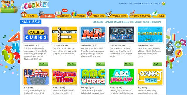 kindergarten online learning games