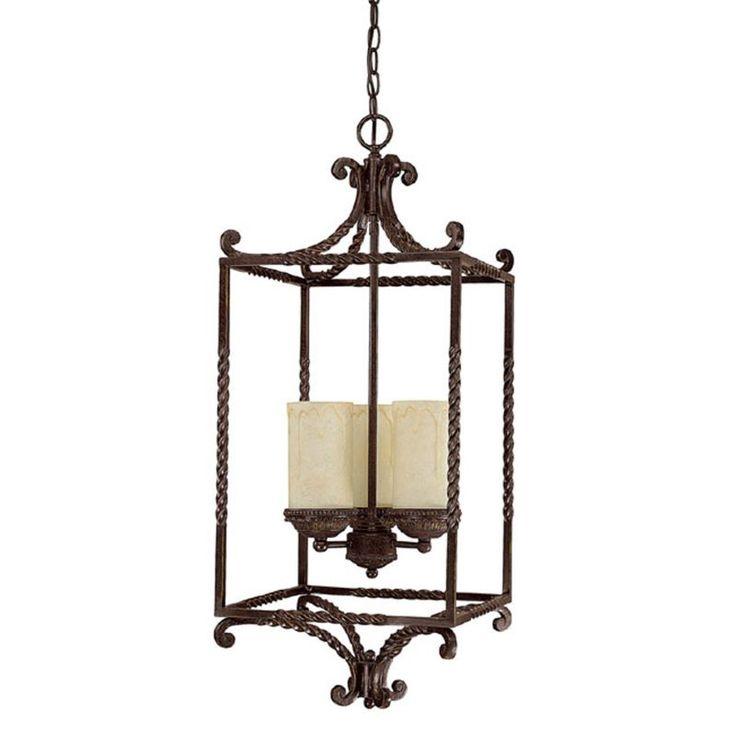 Capital Lighting 9224-261 Highlands 3 Light 1 Tier Cage Chandelier Weather  Brown Indoor Lighting Chandeliers