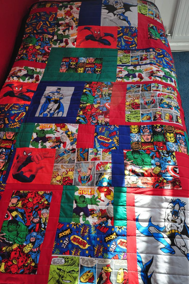 Super Awesome Comic Book Quilt Superhero Quilt Star