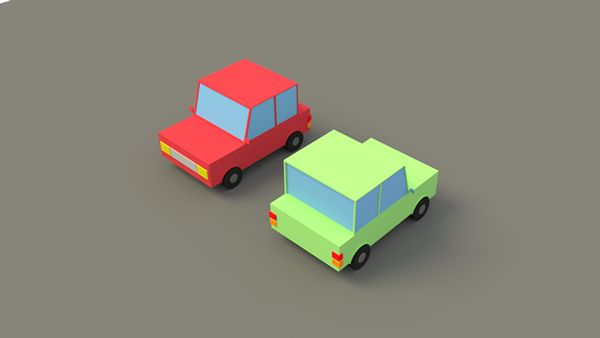 Lowpoly Cars on Behance