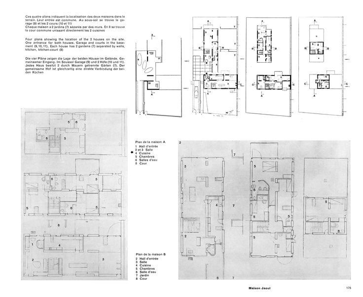 Maison jaoul neuilly sur seine 1951 1955 le corbusier for Le plan d une maison