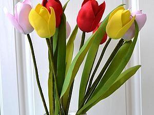 Создаем закрытый тюльпан из фоамирана - Ярмарка Мастеров - ручная работа, handmade