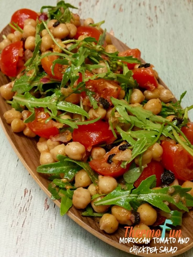 Moroccan Tomato Chickpea Salad - Week 5, 2016 | ThermoFun | Thermomix Recipes & Tips
