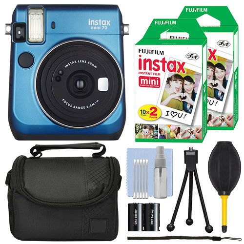 Fujifilm-Instax-Mini-70-Fuji-Instant-Film-Camera-Island-Blue-40-Film-Bundle