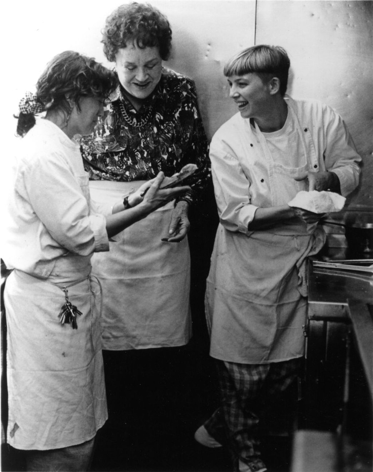 Vintage Julia Child in the kitchen with  Mary Sue & Susan