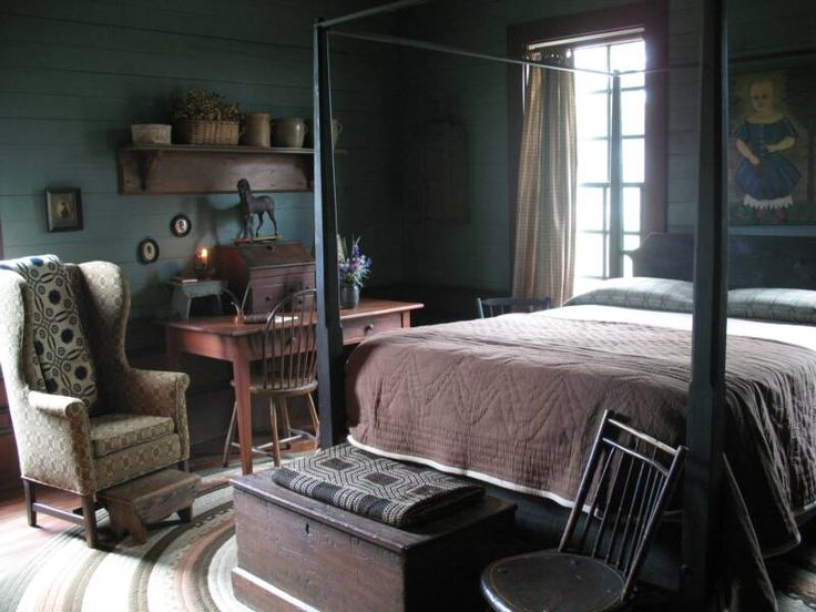 289 Best Images About Primitive And Colonial Bedrooms On