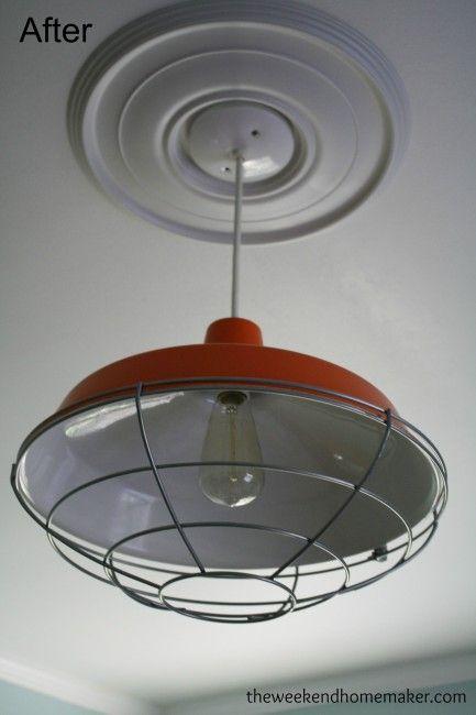 Industrial Barn Light DIY   www.theweekendhomemaker.com