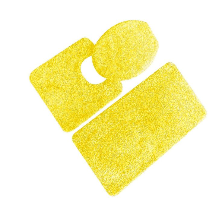 Yellow And Gray Bathroom Rug