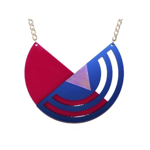 Semi-Circle Necklace| Extreme Largeness | Handmade Perspex Jewellery