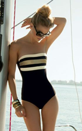 Golden One Piece Swimsuit by Touche 2013 from #SwimwearBoutique