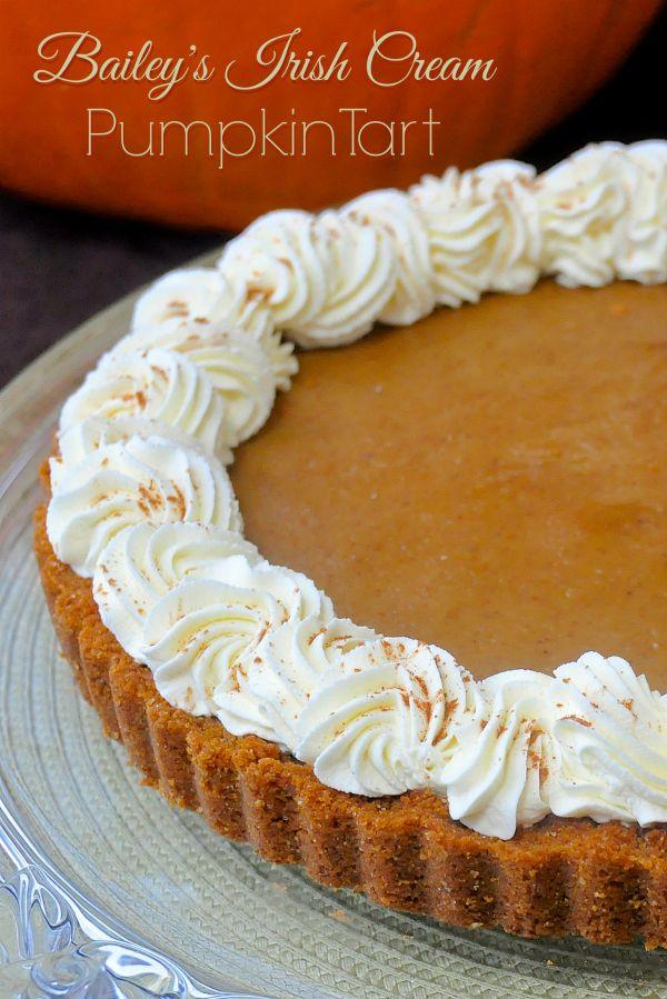 Bailey's Irish Cream Pumpkin Tart - Thanksgiving dessert anyone?