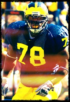 #78 Gabe Watson - A 5 star recruit for Michigan's 2002 class after earning high school All American honors. A two year starter at NT for Michigan. A 2x All Big Ten 1st team defensive player at defensive line. 4th round draft pick in the NFL draft 2006 by the Arizona Cardinals. Go Blue!