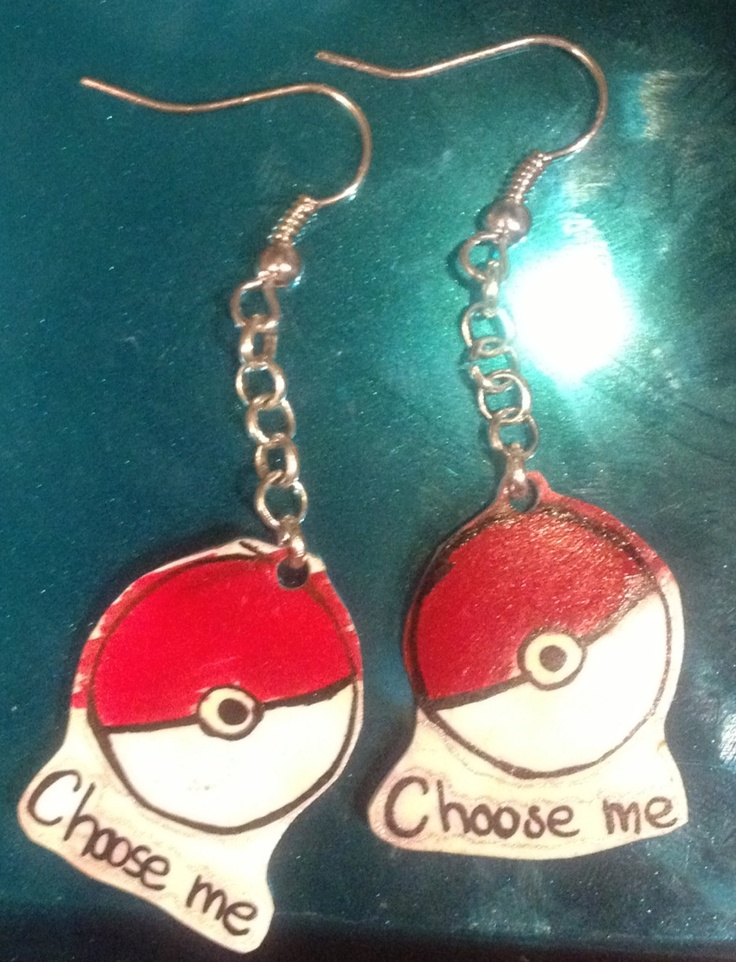 Pokéball earrings