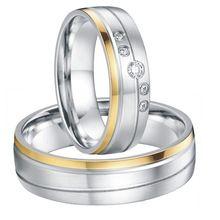 Par de noiva personalizado cor de ouro branco alianças de casamento titanium anel casais banda anéis para homens e mulheres(China (Mainland))