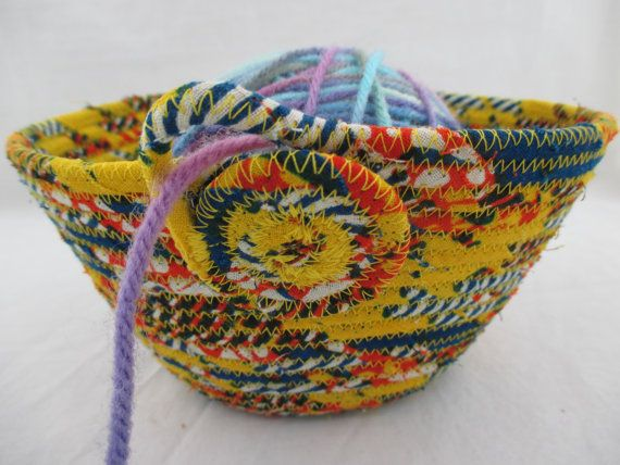 Handmade Fabric Wrapped Clothesline Coiled by njbBasketofJewels