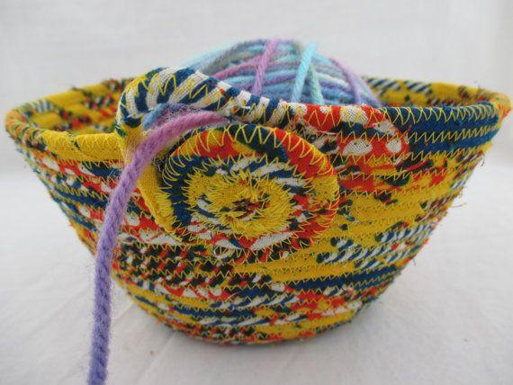 Handmade Fabric Wrapped Clothesline Coiled by njbBasketofJewels