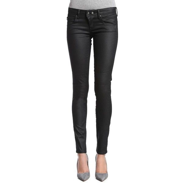Mavi Chloe Skinny Biker Jeans ($104) ❤ liked on Polyvore featuring jeans, black, mavi, skinny leg jeans, zipper jeans, zipper skinny jeans and skinny fit denim jeans