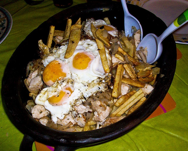 Chorillana - Fries with steak and fried egg, Chile