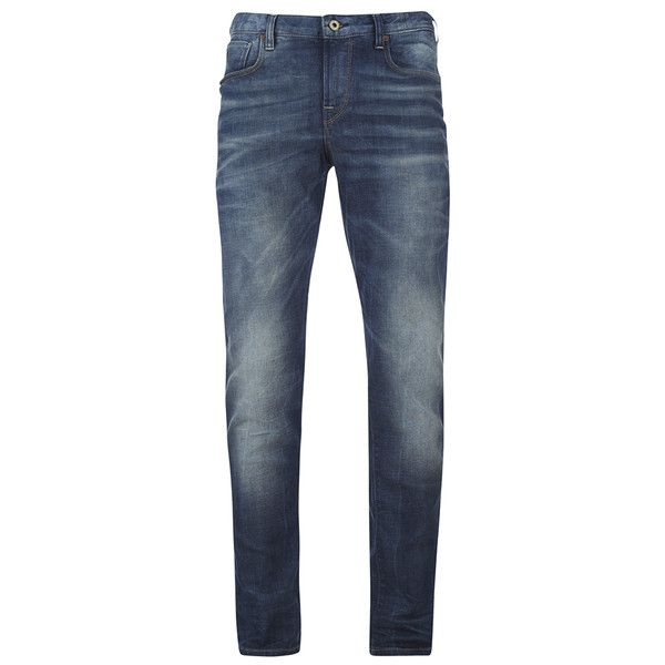 Scotch & Soda Men's Catch 22 Slim Fit Jeans - Moody Marble (235 CAD) ❤ liked on Polyvore featuring men's fashion, men's clothing, men's jeans, blue, mens jeans, mens slim jeans, mens blue jeans, mens slim fit jeans and mens slim cut jeans