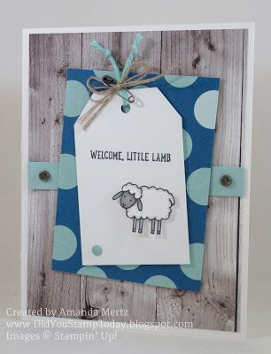 Blue Baby Lamb - Stampin' Up! Barnyard Babies