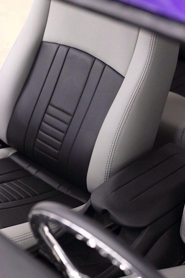 Custom upholstery. Hand built. Nova. Chevy nova. Custom hot rod interiors. Leather.