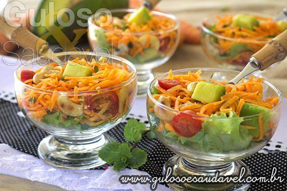 Salada de Cenoura Refrescante » Receitas Saudáveis, Saladas » Guloso e Saudável