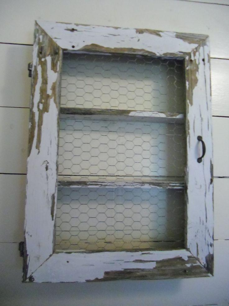 Chicken Wire Shelf Cabinet Window Door Porch Post