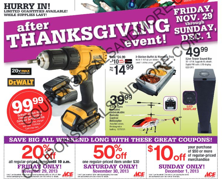 Ace Hardware Black Friday Sales Ad 2013