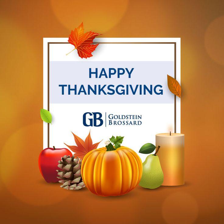 Goldstein Brossard wishes you a safe and happy #Thanksgiving! #GoldsteinBrossard #Attorney #LawFirm #Marketing