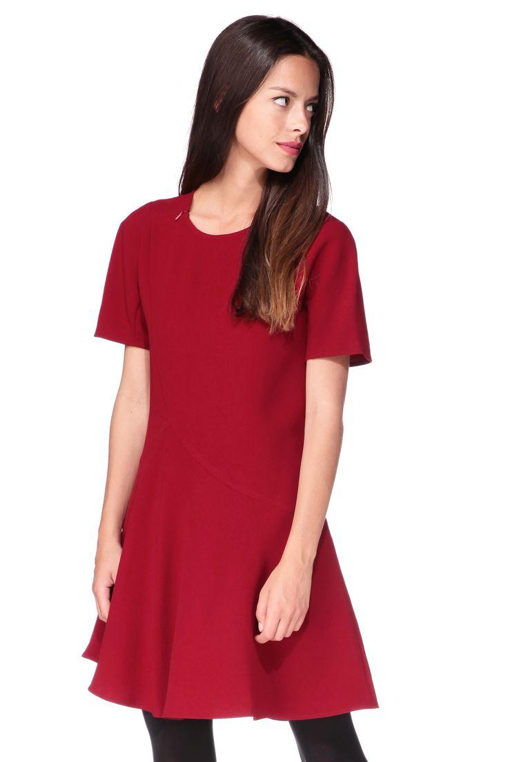 vestido recto - 3340-r3153 - Rojo / Coral Tara Jarmon en MonShowroom.com
