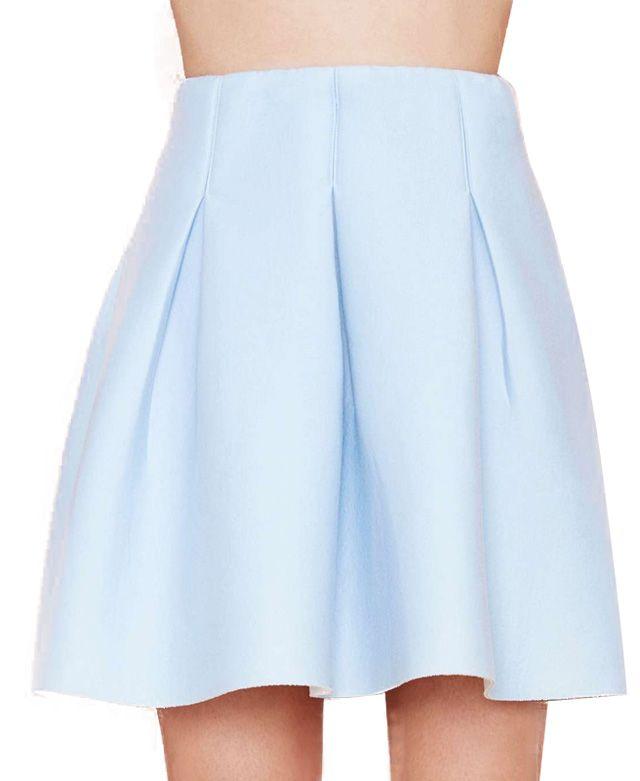 Pure Color Drape Skirt