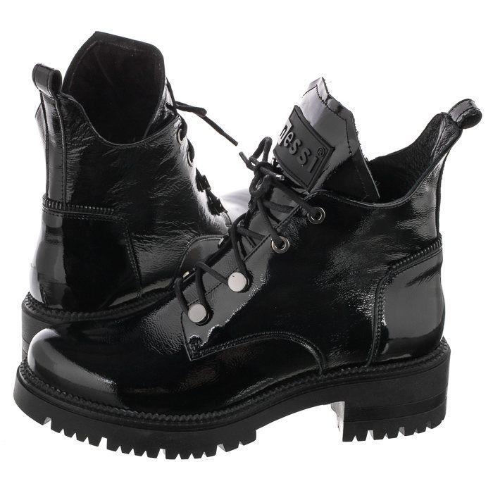 Botki Nessi Czarne Lakierowane 20748 711 Fashion Boots Combat Boots Boots