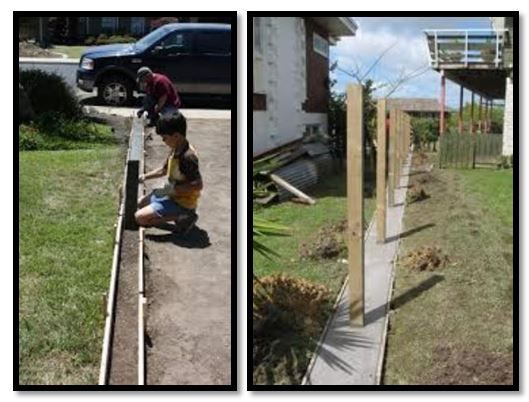 install a concrete edge under the fence to keep the dogs from digging out