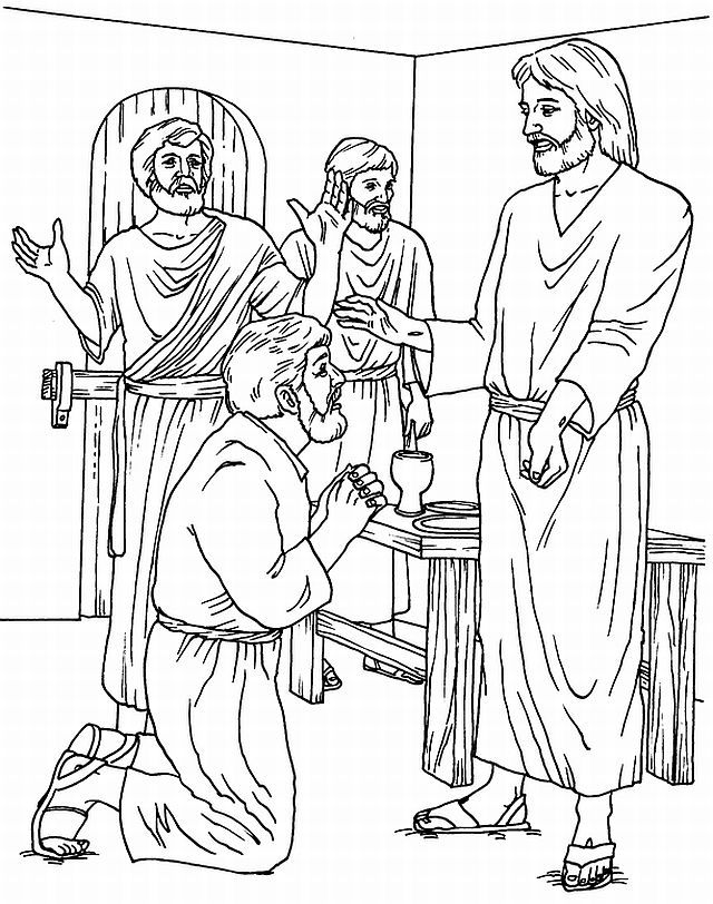 Doubting Thomas Coloring Pages - AZ Coloring Pages