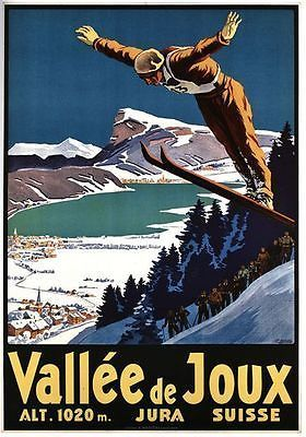Vintage Swiss Valley de Joux by Johann Emil Müller, 1930. – Poster für das Vallée de Joux aus dem Jahr 1930 von Johann Emil Müller.   bestswiss.ch