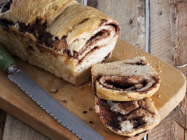 Chocolate bread. Totally wicked – the irresistible combination of freshly-baked bread and a chocolate filling!