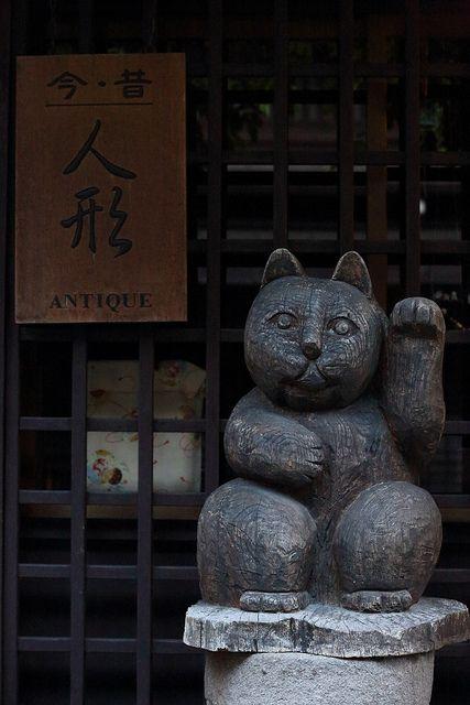 Antique cat  Sannomachi,Hida Takayama ,Gifu #Japan